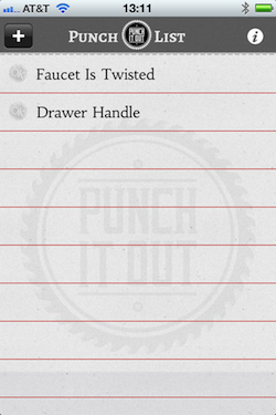 PunchItOut punch list